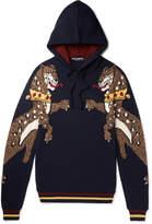 Dolce & Gabbana - Slim-fit Tiger Intarsia Wool Hoodie