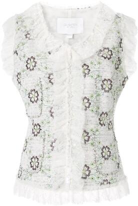 Giambattista Valli embroidered flowers gilet