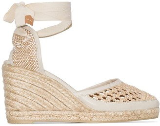 Castaner Carola 80mm crochet wedge espadrilles