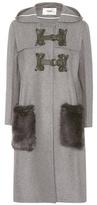 Fendi Fur-trimmed wool and cashmere coat