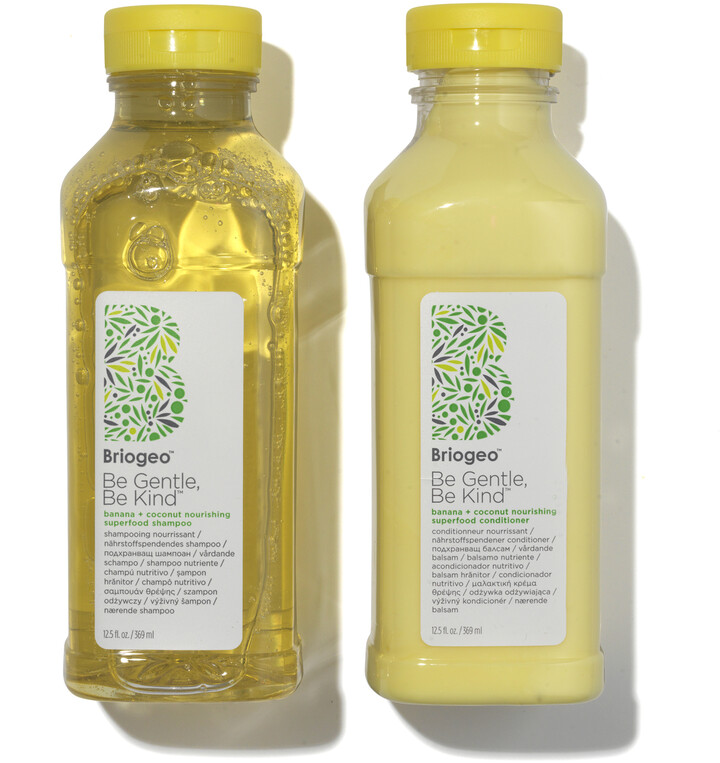 BRIOGEO Banana + Coconut Nourishing Shampoo + Conditioner Duo for Dry Hair