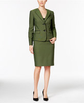 Le Suit Plaid Two-Button Skirt Suit