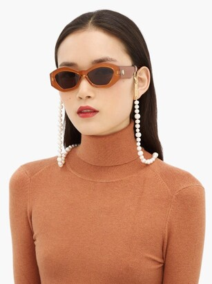 Frame Chain Pearly Queen Pearl And Gold-plated Glasses Chain - Yellow Gold