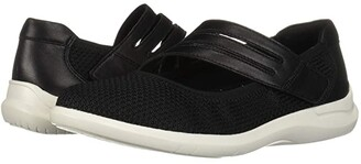 Aravon PC Mary Jane (Black Knit) Women's Shoes