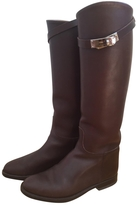 Hermes Brown Leather Boots