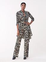 $500 Diane Von Furstenberg /'Traci/' Stretch Silk Sleeveless Jumpsuit BLACK