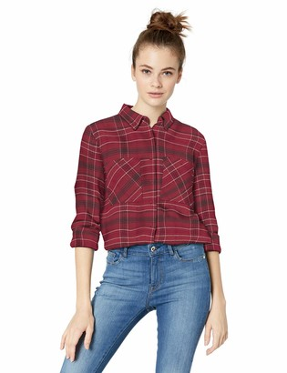 RVCA Junior's ROAM Long Sleeve Flannel Shirt