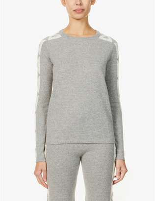 Madeleine Thompson Uncle Buck geometric-pattern cashmere jumper