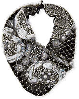 Mignonne Gavigan Le Charlot Beaded Scarf Necklace, Black