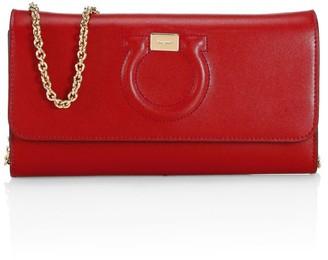 Salvatore Ferragamo Gancini Leather Wallet-On-Chain