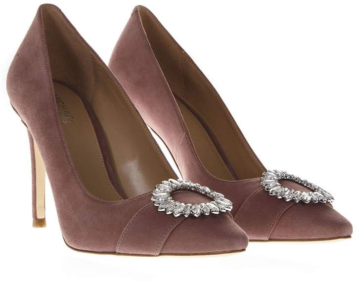 590318cc029 Pink Suede Leather Pumps