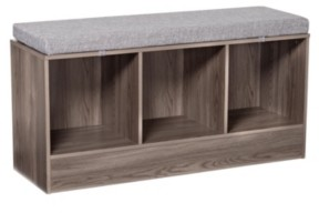 Honey-Can-Do Entryway Bench with Storage Shelves