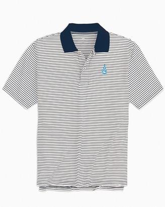 Southern Tide Citadel Bulldogs Pique Striped Polo Shirt