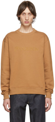 J.W.Anderson Tan Embroidered Logo Sweatshirt