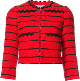 Sonia Rykiel striped cropped jacket - women - Cotton/Acrylic/Polyamide/Cupro - 38