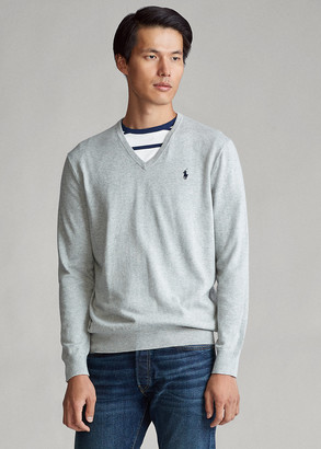 Ralph Lauren Cotton V-Neck Sweater