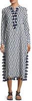 Figue Paolia Tassel-Trim Caftan Dress