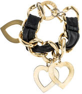CC Skye Leather Heart Charm Bracelet