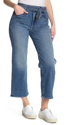 Mother The Tie Patch Rambler High Waisted Crop Jeans