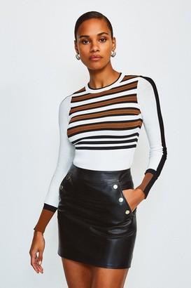 Karen Millen Bold Stripe Knit Jumper