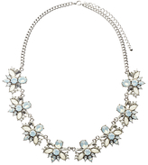 John Lewis Floral Crystal Statement Necklace, Clear/Multi