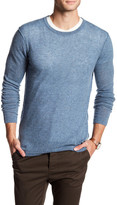 Autumn Cashmere Crew Neck Cashmere Shirt with Seam Detail