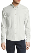 Scotch & Soda Jacquard Button Down Sportshirt