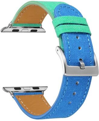Posh Tech Turquoise/Blue Linen 38mm Apple Watch 1/2/3/4 Band