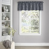 Eclipse Curtains Eclipse 15654052018MDN Mallory 52-Inch by 18-Inch Blackout Floral Valance, Midnight