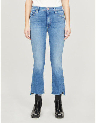Mother The Insider Crop high-rise stretch-denim jeans
