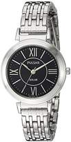 Pulsar Women's Quartz Stainless Steel Casual Watch, Color:Silver-Toned (Model: PY5027)