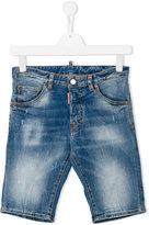 DSQUARED2 stonewash denim shorts - kids - Cotton/Spandex/Elastane - 14 yrs