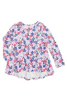 Tea Collection Girl's Floral Twirl Top
