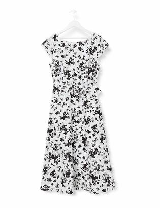 Amazon Brand - TRUTH & FABLE Women's Midi Cotton A-Line Dress