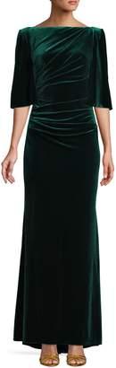 Eliza J Velvet Ruched Gown