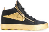 Giuseppe Zanotti Design zip detail hi-tops - men - Calf Leather/Leather/Foam Rubber - 39