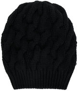 Cruciani chunky cable knit beanie
