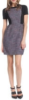 Shoshanna Colorblock Tweed Dress