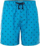 Original Penguin Men's All Over Logo Mid Length Swim shorts