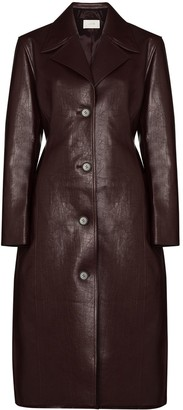 LVIR Single-Breasted Faux Leather Trench Coat