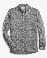Brooks Brothers Luxury Collection Madison Classic-Fit Sport Shirt, Button-Down Collar Paisley Print