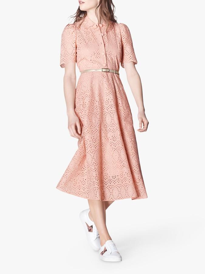 LK Bennett Grace Dress, Rose Pink