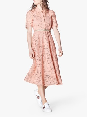 LK Bennett Grace Dress, Rose Pink