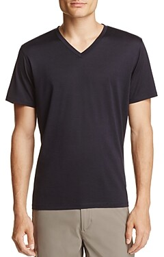 Theory Incisive Silk-Cotton Claey Plaito Tee