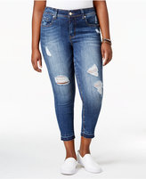 Melissa McCarthy Trendy Plus Size Ripped Skinny Ankle Jeans