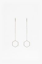 French Connection Geo Drop Hexagon Earrings