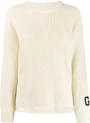 Guardaroba logo print ribbed sweater