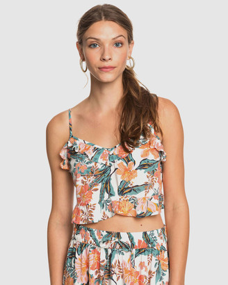 Roxy Womens Story Me Strappy Crop Top