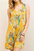Entro Mustard Cactus Dress