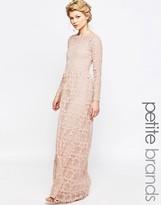 True Decadence Petite Allover Floral Applique Maxi Dress